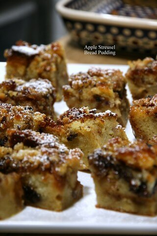 Apple Streusel Bread Pudding 02.28.2016