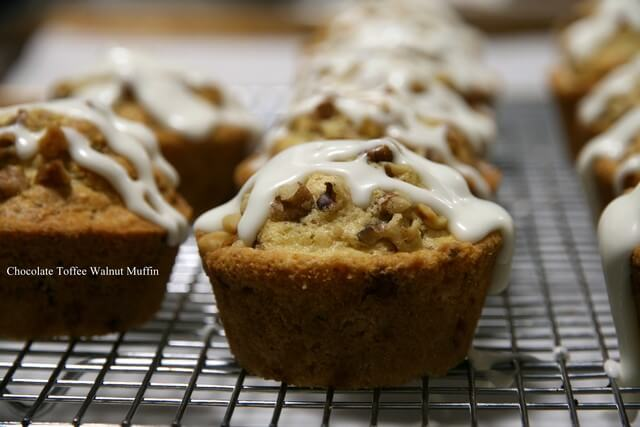 Chocolate Toffee Walnut Muffin 02.13.2015